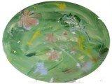 Gemälde Green Flowers von kooZal - Acrylbilder und Collagen Mischtechniken