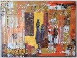 Gemälde Afrostract von kooZal - Acrylbilder und Collagen Mischtechniken