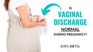 Is vaginal discharge normal during pregnancy - image