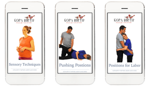 Kopa Birth® Partner Labor Guides, Online Childbirth Class Essentials Package