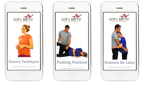 Kopa Birth Plus online childbirth class Partner Labor Guides