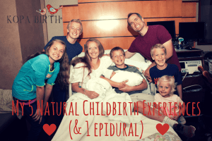 My 5 Natural Childbirth Experiences (& 1 Epidural)