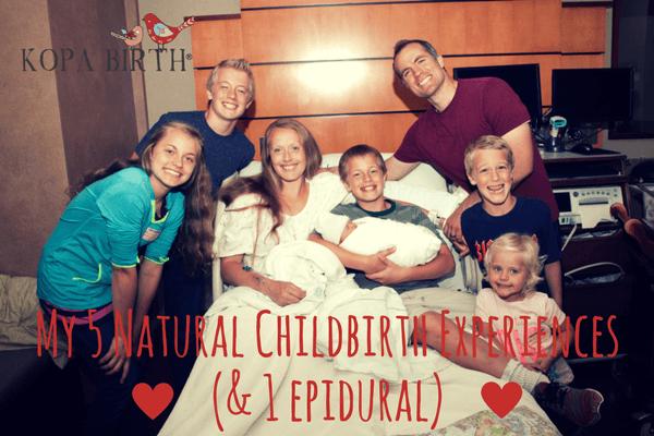 My 5 Natural Childbirth Experiences (& 1 Epidural)