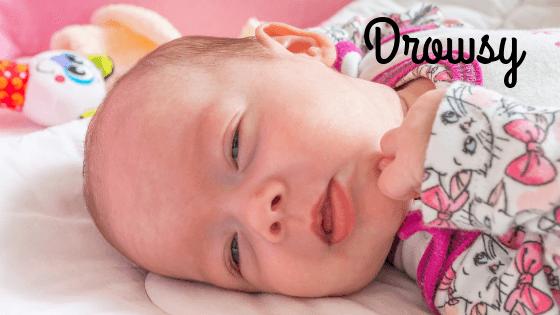 Newborn sleep schedule - drowsy
