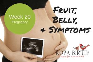 Week 20 Pregnancy Fruit Belly & Symptoms