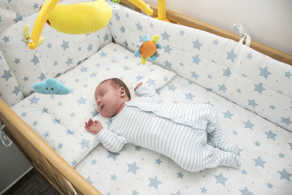 When do babies sleep all night - asleep on back
