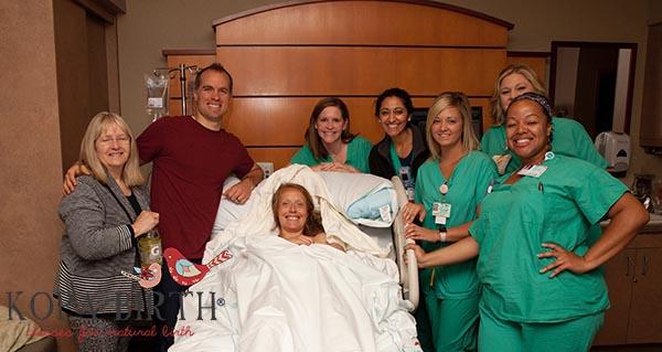 lotties natural hospital birth - doctors and nurses