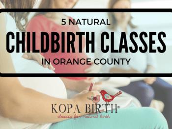 natural childbirth classes orange county