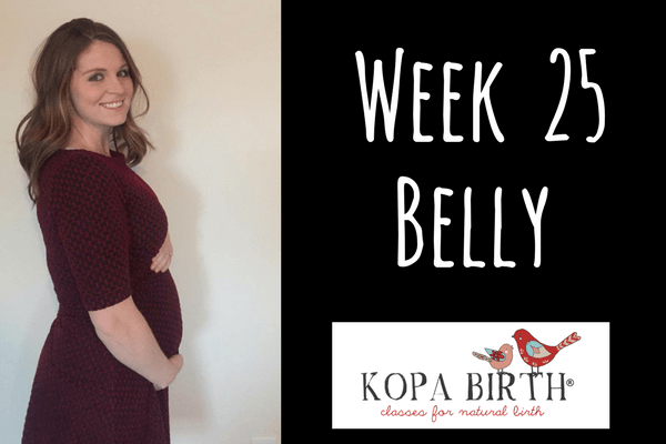 week 25 pregnancy belly