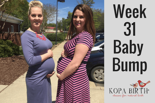 week 31 pregnancy baby bump