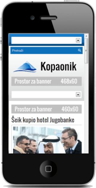 kopaonik.rs na telefonu