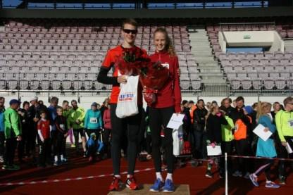 Ingvar Hjartarson og Andrea Kolbeinsdóttir sigruðu í 5km Hjartardagshlaupinu í ár.