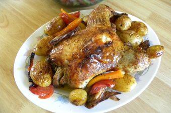 Κοτόπουλο ψητό στο φούρνο εικόνα