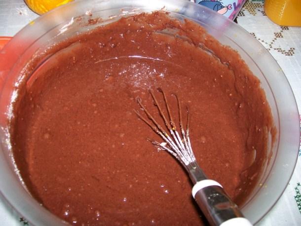 Χυλός κέικ σοκολάτας εικόνα