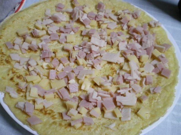 κρέπες με ζαμπόν και τυρί εικόνα