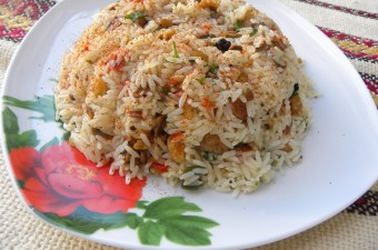 Ρύζι Πιλάφι με Μανιτάρια εικόνα