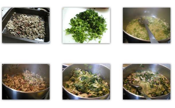 ετοιμασία μαγειρίτσας εικόνα