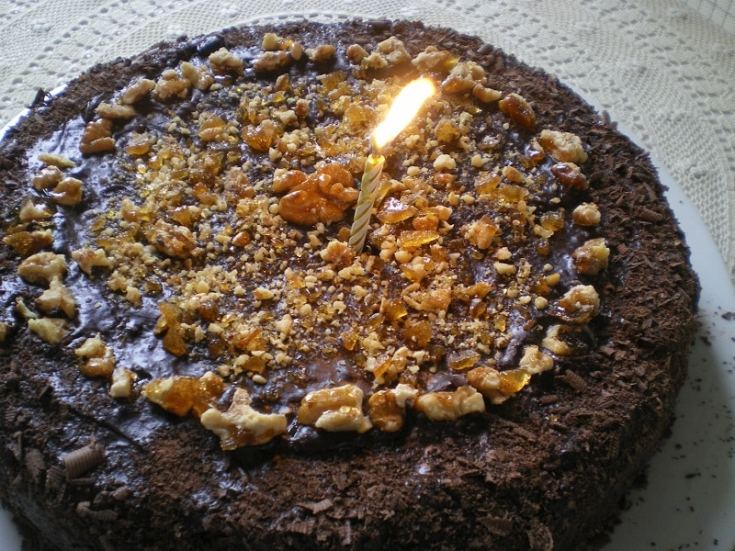 Νηστίσιμη Τούρτα Σοκολάτας με Κρέμα Κάστανου