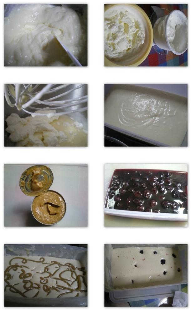 κολάζ παγωτό με ντούλτσε ντε λέχε εικόνα
