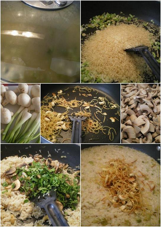 κολάζ ρύζι σαλάτα εικόνα