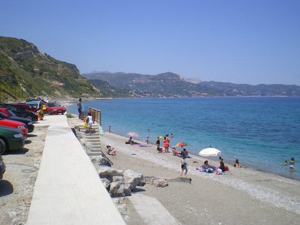 Εύβοια, παραλία κοντά στην Κύμη εικόνα