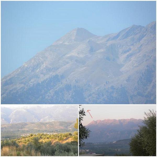 Η οροσειρά του Ταϋγέτου με την πυραμίδα