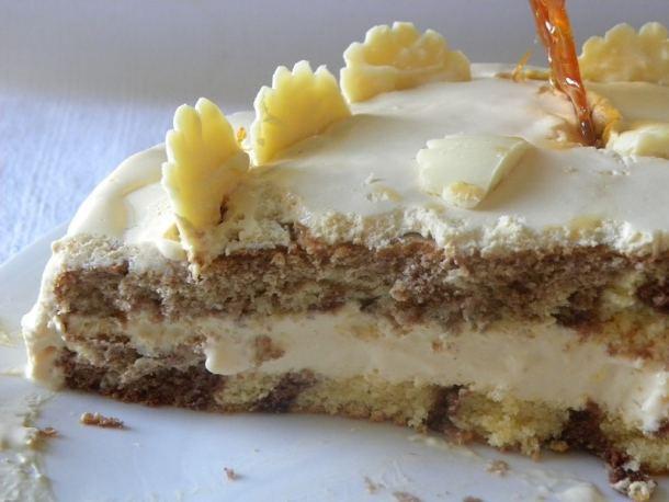 Κέικ Καραμέλας δίχρωμο εικόνα