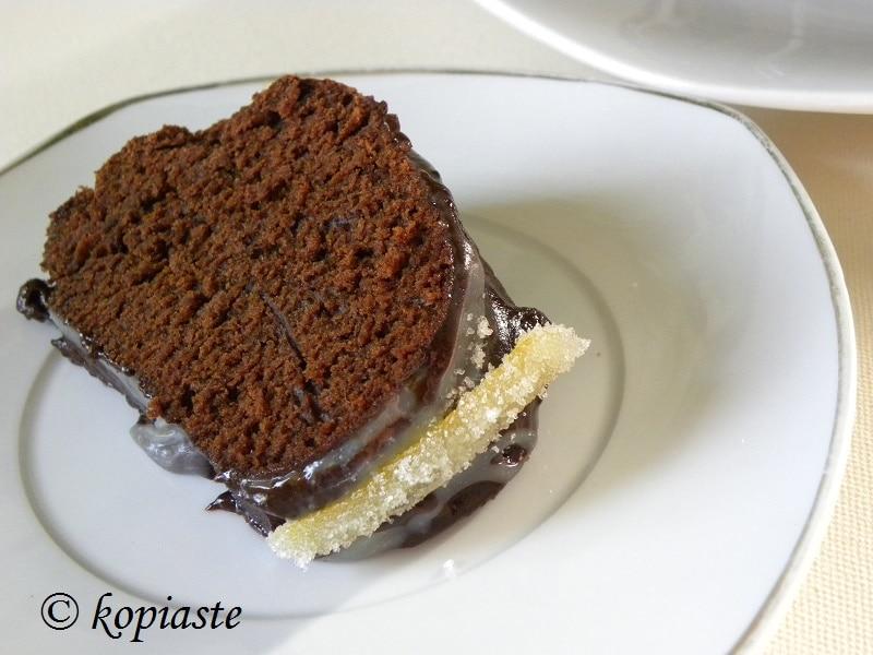 Κομμένο κέικ με τερατσόμελο