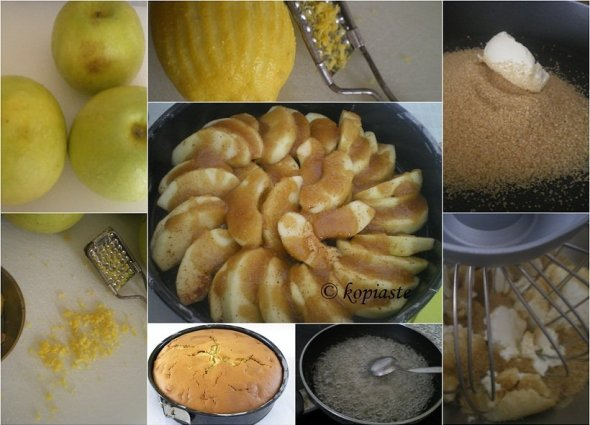 Collage Apple caramel cream cheese