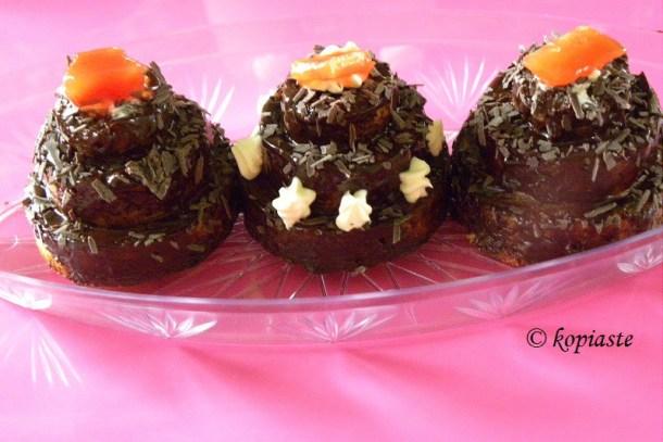 chocolate ganache mini cakes