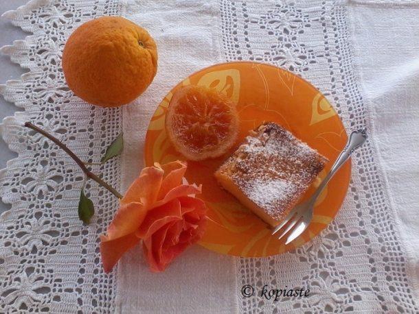 γαλατόπιτα με πορτοκάλι φωτογραφία