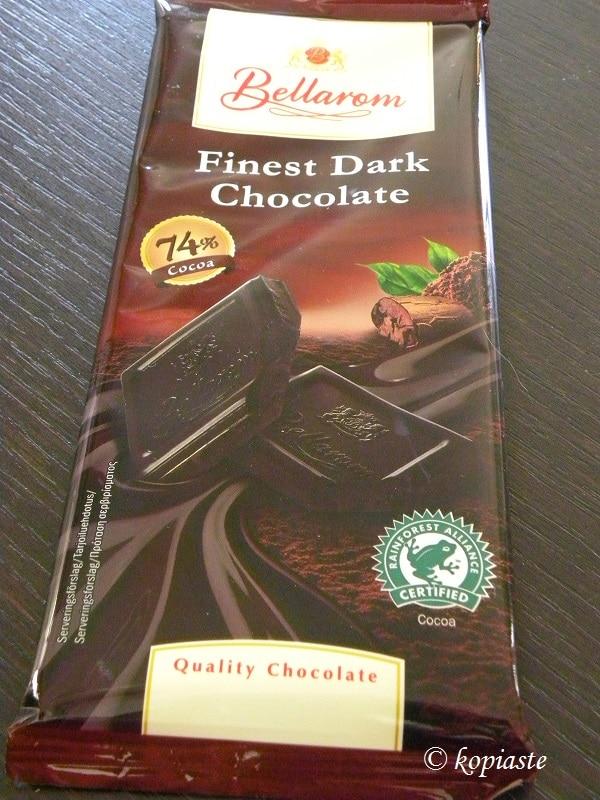 Μαύρη σοκολάτα με 74 τοις εκατό κακάο