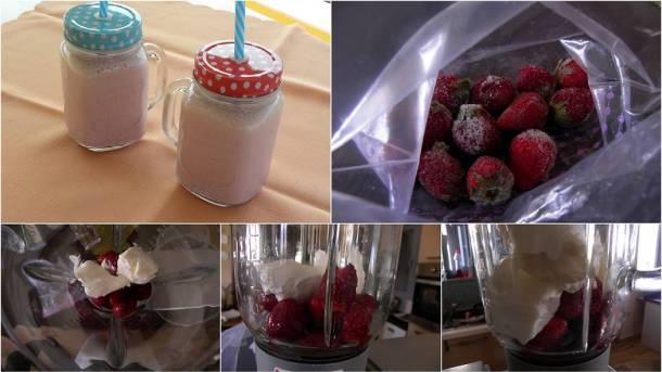 Κολάζ Σμούδι με Φράουλες