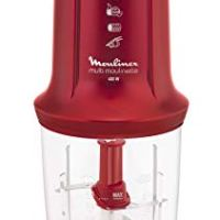 KRUPS Moulinex Chopper Multi Moulinette, double blade, metallic ruby red colour