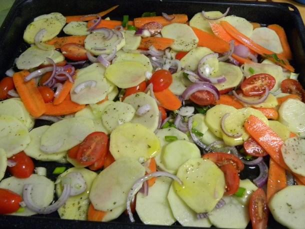 Λαχανικά πριν το ψήσιμο εικόνα