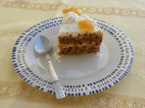 Νηστίσιμο κέικ καρότου φωτογραφία