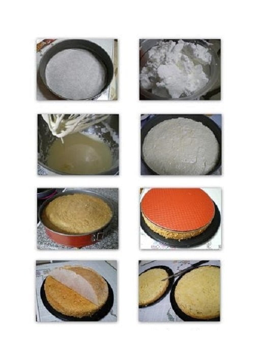 collage how to make sponge cake image