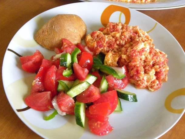 Kagianas with Greek salad image