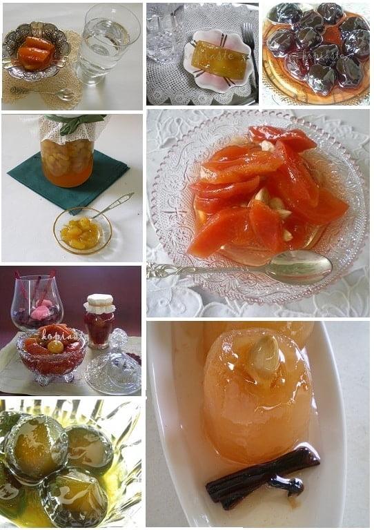 collage fruit preserves