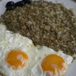 lentils fakes with eggs image