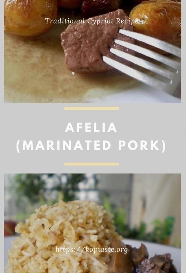 Afelia (marinated pork in red wine) image