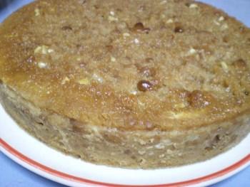 Caramel biscuit pudding image