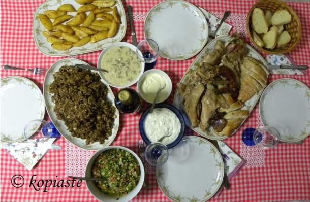 Christmas dinner image