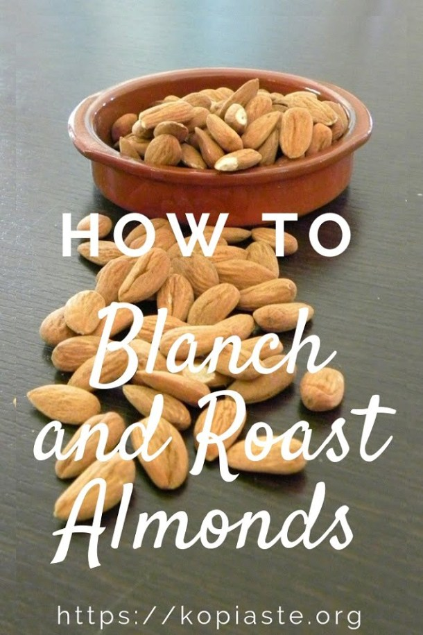How to blanch almonds image