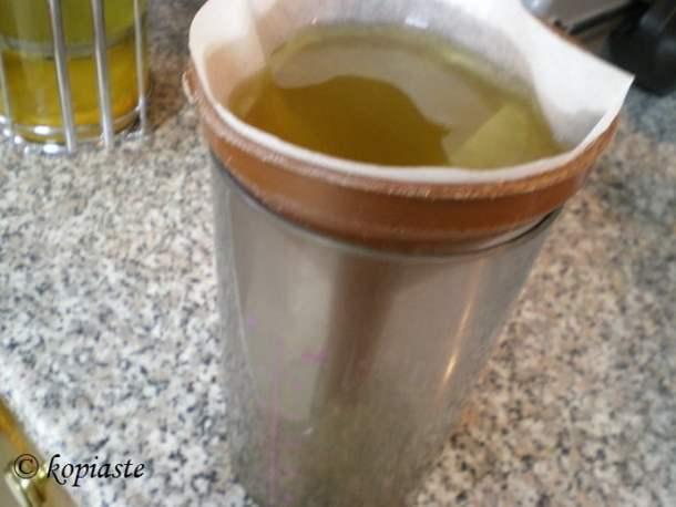 Image straining bergamot zest