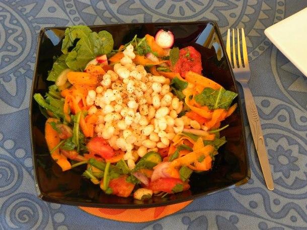 Crunchy vegan bean salad photo