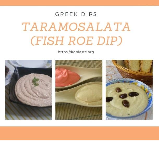 Collage Taramosalata greek dips image