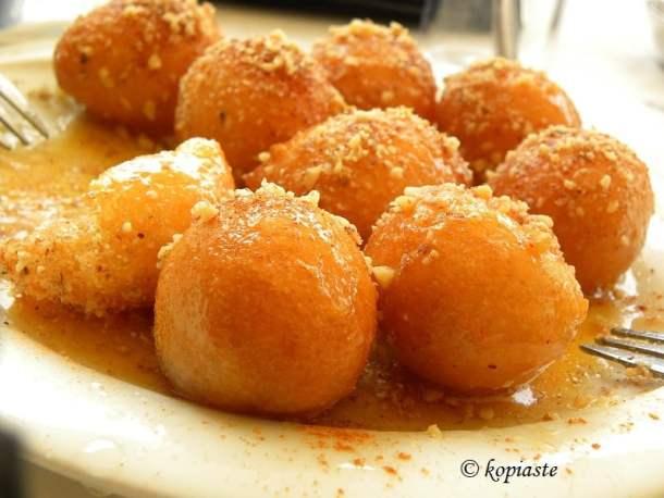 oukoumades with honey image