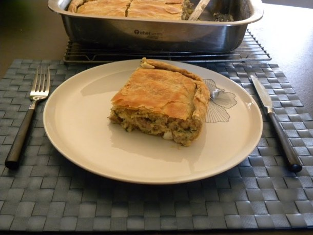 Lamb pie with homemade phyllo image