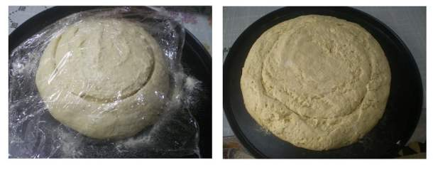 Bread ready for baking image